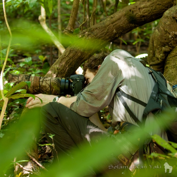 Andrew patiently merges himself within the foliage, getting to eye-level ensures a deeper connection with the subject, creating a more genuine representation of their character