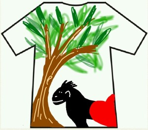 Get your creative juices flowing and top this T-shirt design by our volunteer Jodie!!