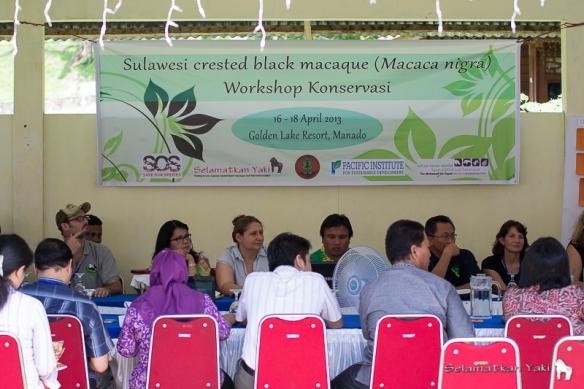 Saya menghadiri loka karya pertama tentang Macaca Nigra. The first workshop ever on yaki conservation (Macaca nigra) in North Sulawesi.