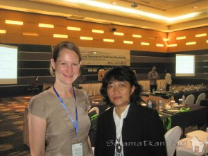 Thirza together with Mrs Ria Saryanthi from the Critical Ecosystem Partnership Fund (CEPF).
