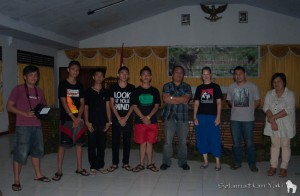 Together with members from Mawale Photography Tomohon and Rajawali student club Bitung