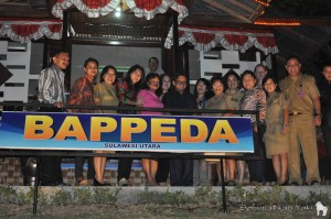 Our wonderful colleagues at Bappeda! In the middle: Ir. SR Mokodongan.