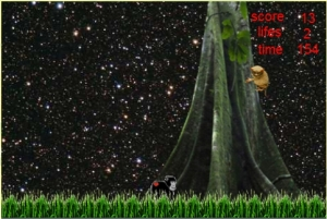 Level 2 in the Yaki Game - the Forest at night! Want to know what level 3 is? Play the game here! Just click on the link!
