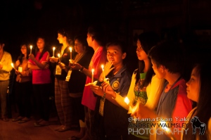 Celebrating Earth Hour by candle light!