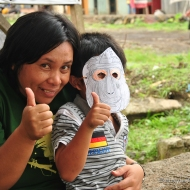 """Yunita Siwi, our Education Officer, has been with us from the start. She loves contributing to yaki conservation because """"conservation is my passion... Minahasa is my land... and Yaki is our Macaque! And I'm proud to be part of SY!"""""""