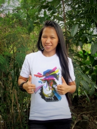 "Meet Reyni! Our programme secretary! Reyni loves contributing to yaki conservation because ""... they really need to be saved from extinction so our next generation will be able to see Yaki as the heritage of the nature of North Sulawesi. I also want to inspire people contributing to conservation as i got inspired by the hard work of Selamatkan Yaki!"""