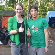 """""""I love yaki conservation, because yaki are truly beautiful creatures & play an important role in the ecosystem. I feel happy to be part of a dedicated team that strengthens the awareness and pride of Macaca nigra, as flagship for the unique biodiversity here in North Sulawesi! (&I love my job, I learn new things every day!)"""" - Thirza, Education and Advocacy Coordinator for Selamatkan Yaki"""