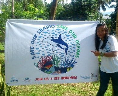 Design meets marine conservation: I helped organized North Sulawesi's 1st Finathon in December 2013 and did some graphic design work for pledge banners and pins