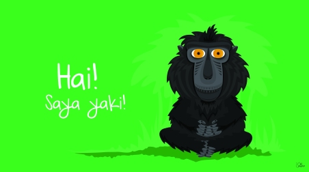 Hi! Meet Yaki! An illustration by illustrator Oriana Chalbaud who inspired Joe to join the Selamatkan Yaki team!