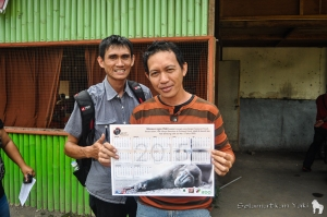 Surveyors Ance and Donny - this calendar will be handed out to each of our 1135 respondents!