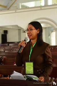 Participant providing feedback on the Sunday School syllabus